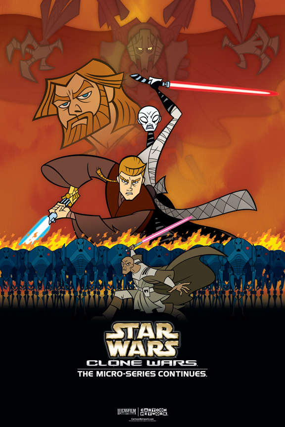 the clone wars animated posters on behance
