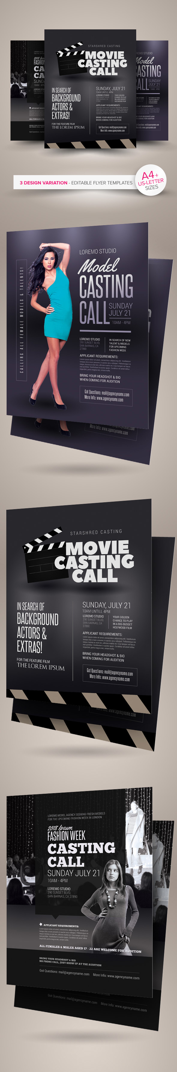 Casting Call Flyer Templates On Behance