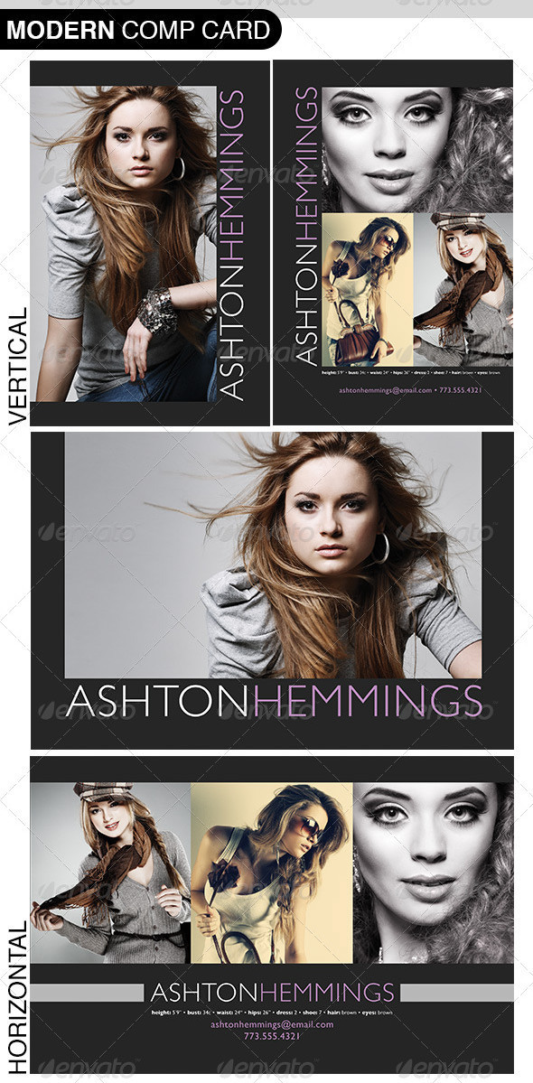 free model comp card template psd.html