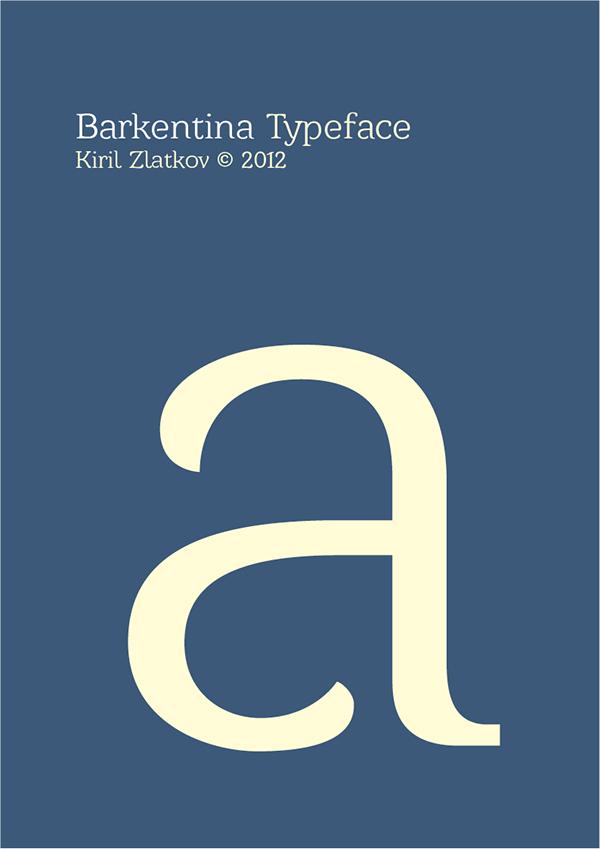 Barkentina Typeface