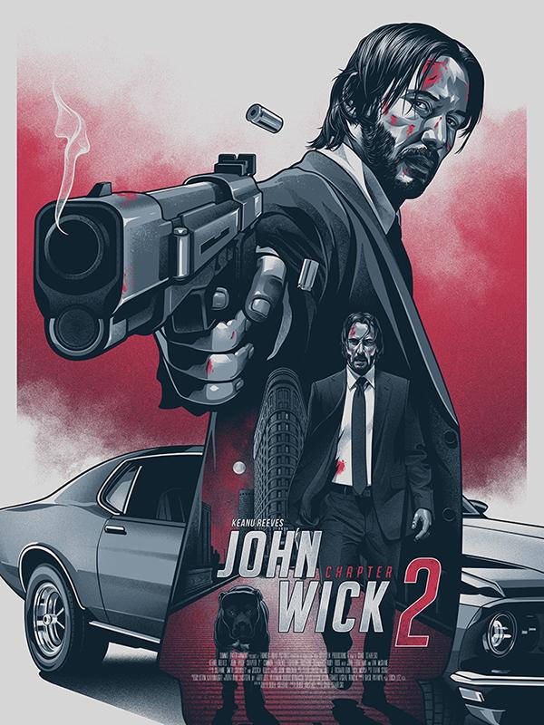 John Wick 2 On Pantone Canvas Gallery