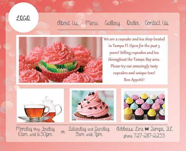 Pink Cupcake Website Template Design On Behance