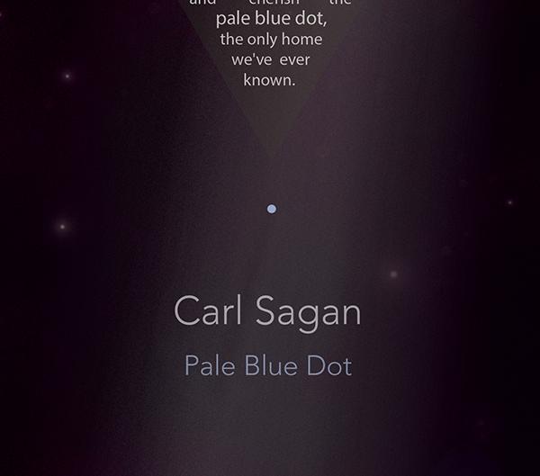 pale blue dot on behance