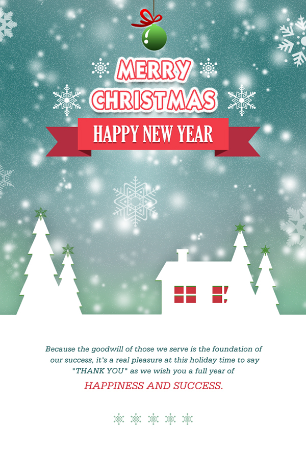 Create Merry Christmas Email Template For Send Wishes T On