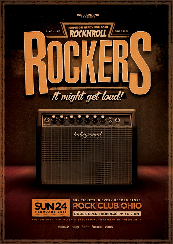 Rock Poster Vol 1 On Behance