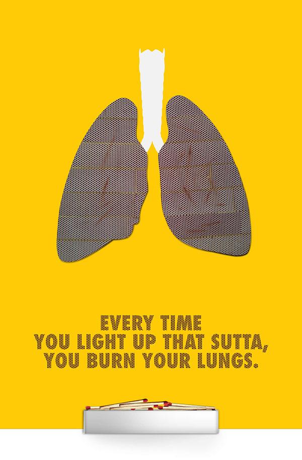anti smoking poster on behance