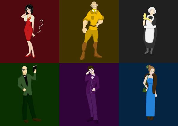 Cluedo Characters On Behance