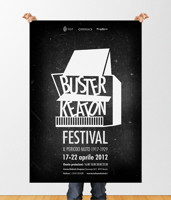 buster keaton poster on behance