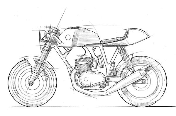 Image result for cafe racer design sketch