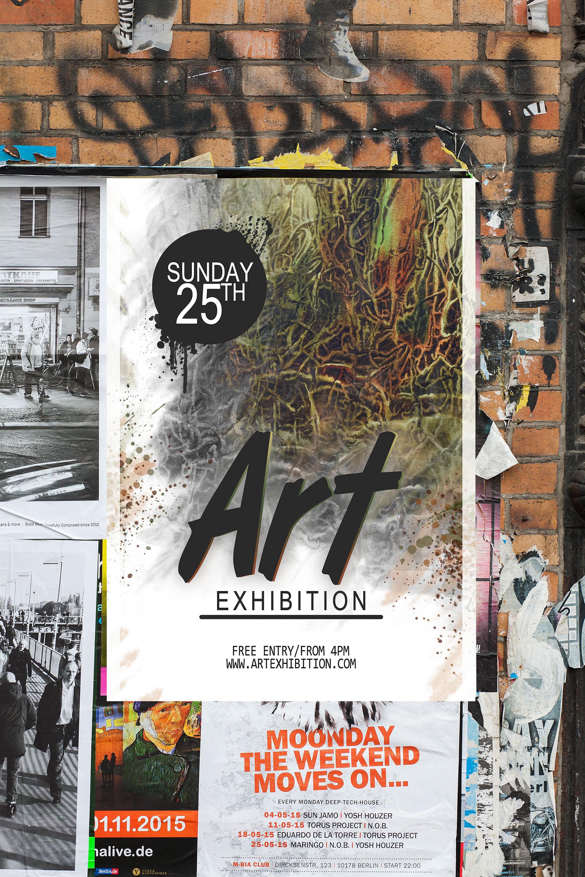 art exhibition poster design on behance