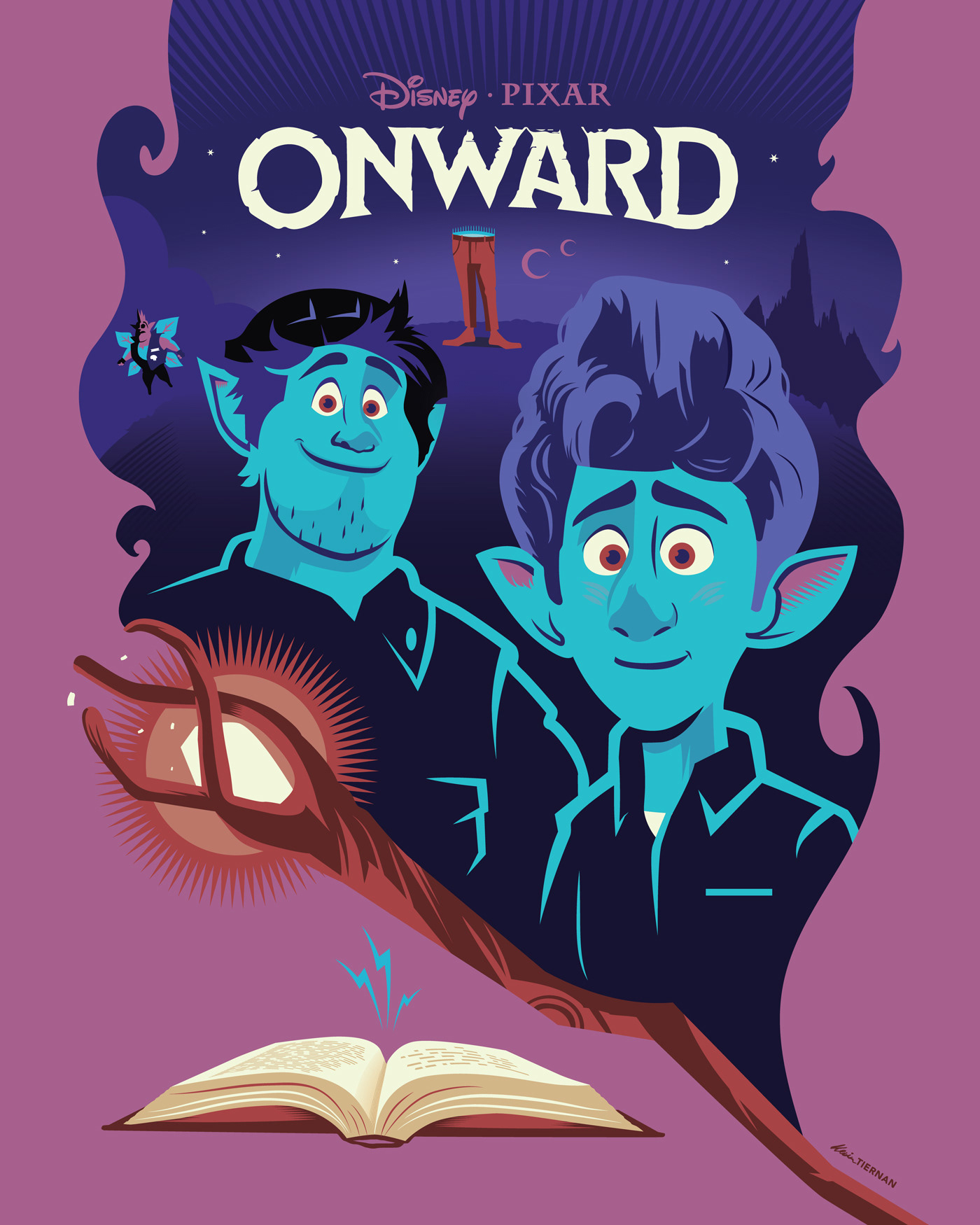 disney and pixar s onward poster on behance