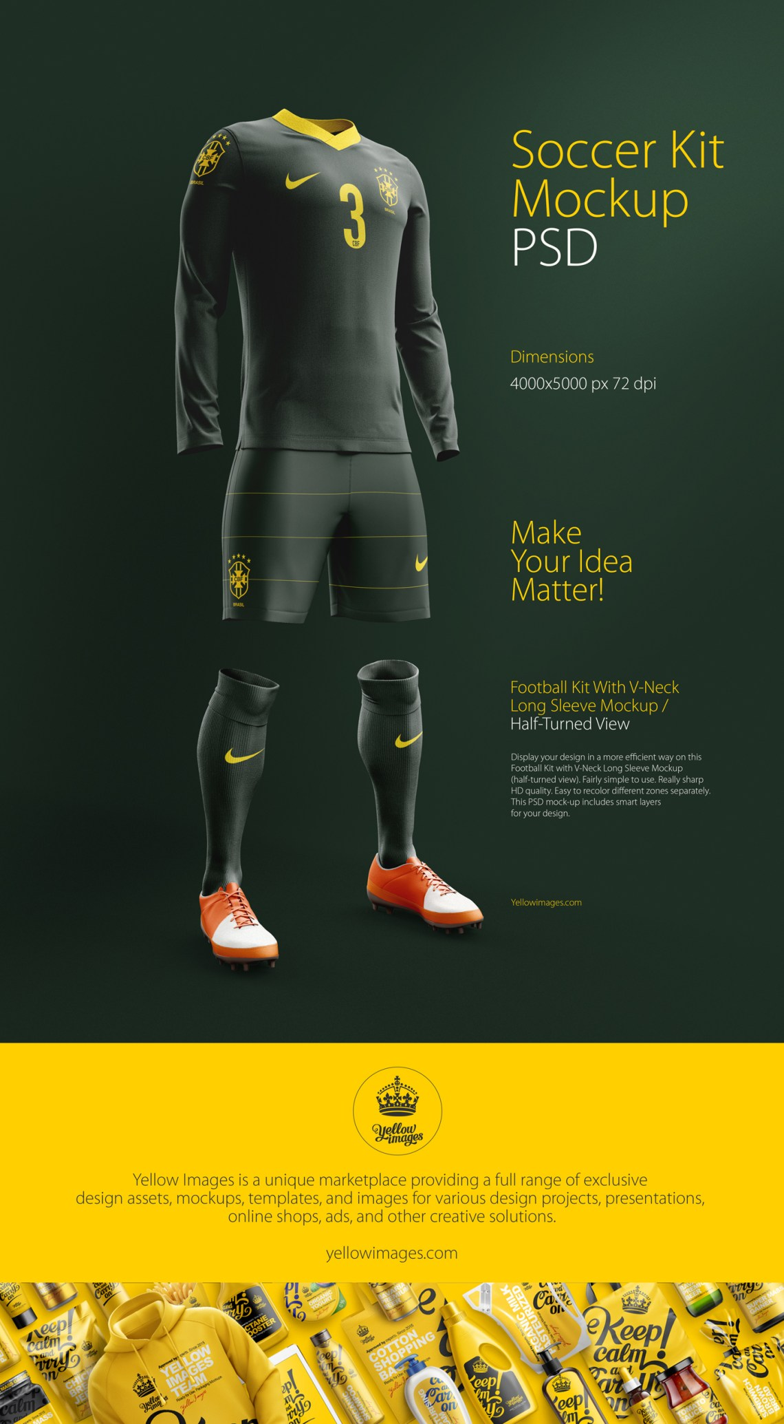 Download Soccer Kit Mockup Free Download Yellowimages