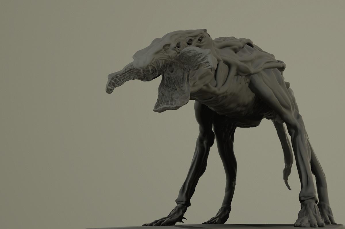 Demodog VR Sculpting Stranger Things Inspired On Behance