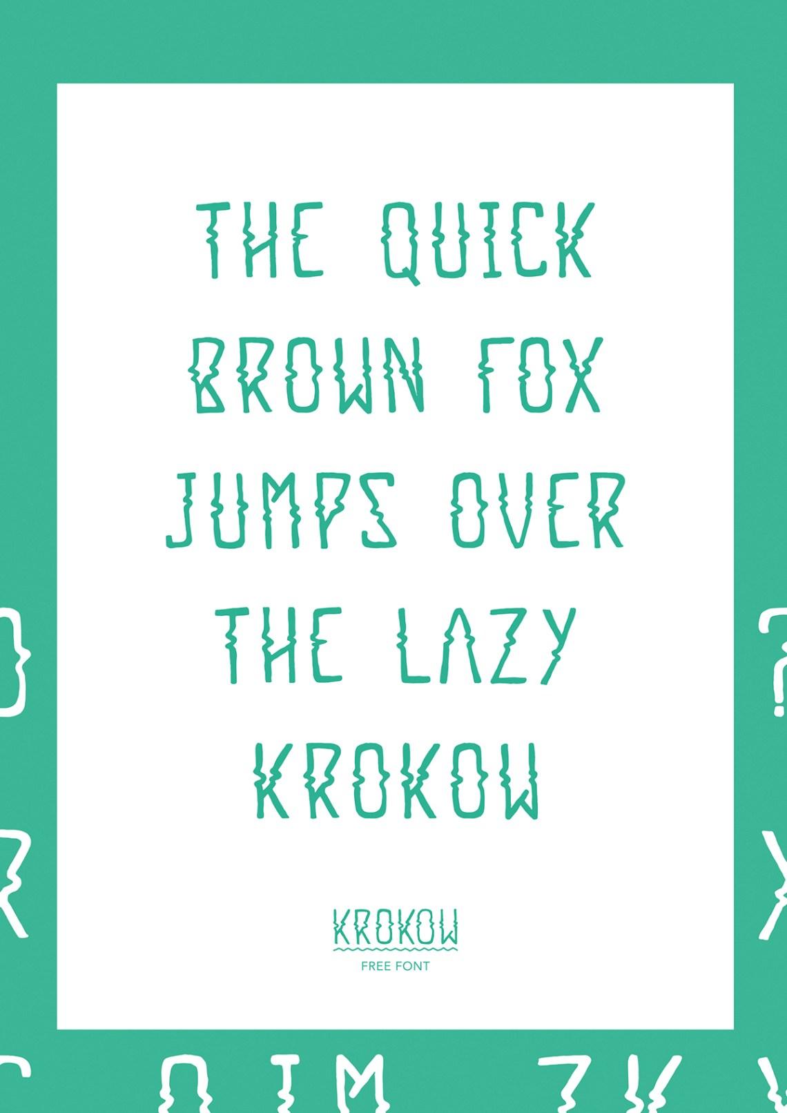 free font krokow