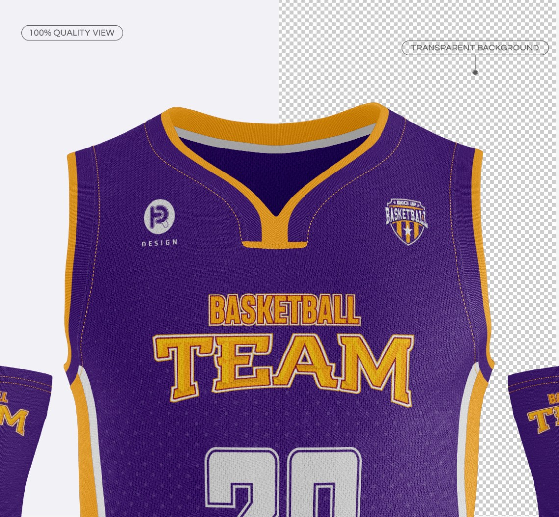 Download Men's Full Basketball Kit Wishbone Collar Jersey Mock u on ...