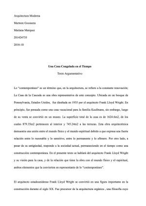 CF_Arquitectura Moderna  Texto Argumentativo 201610 on Los Andes Portfolios