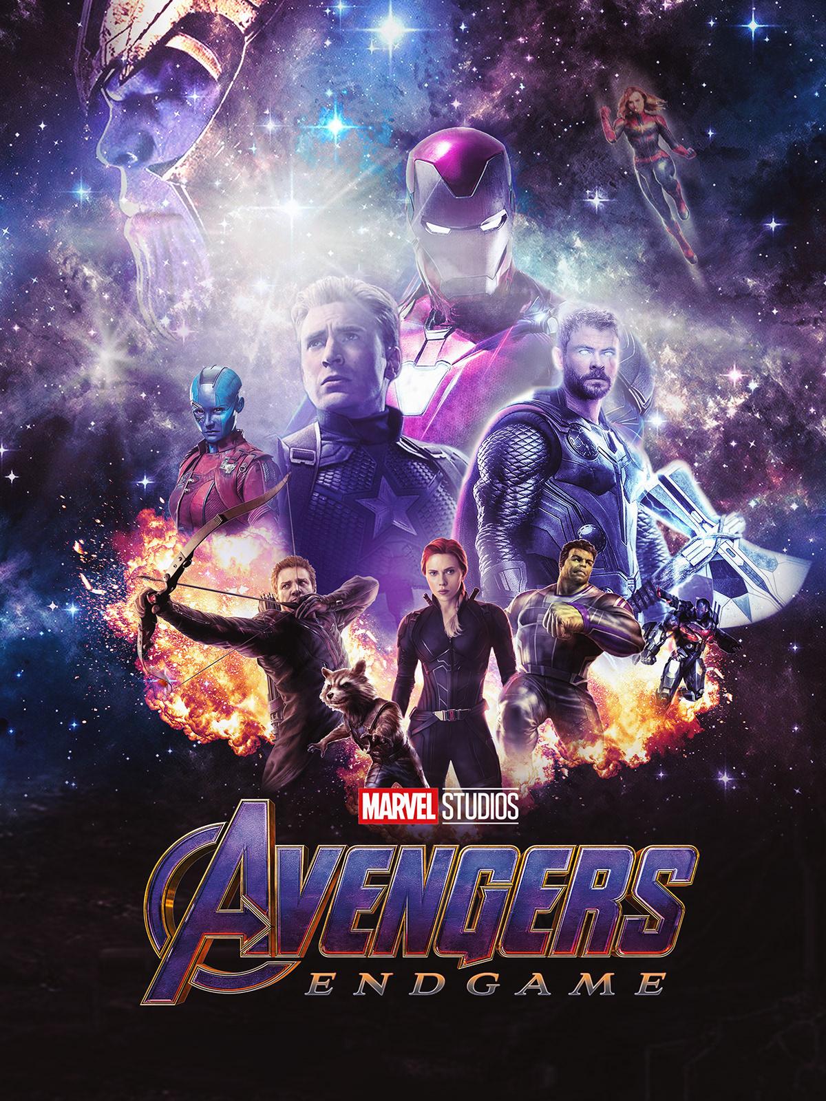 avengers endgame film poster design