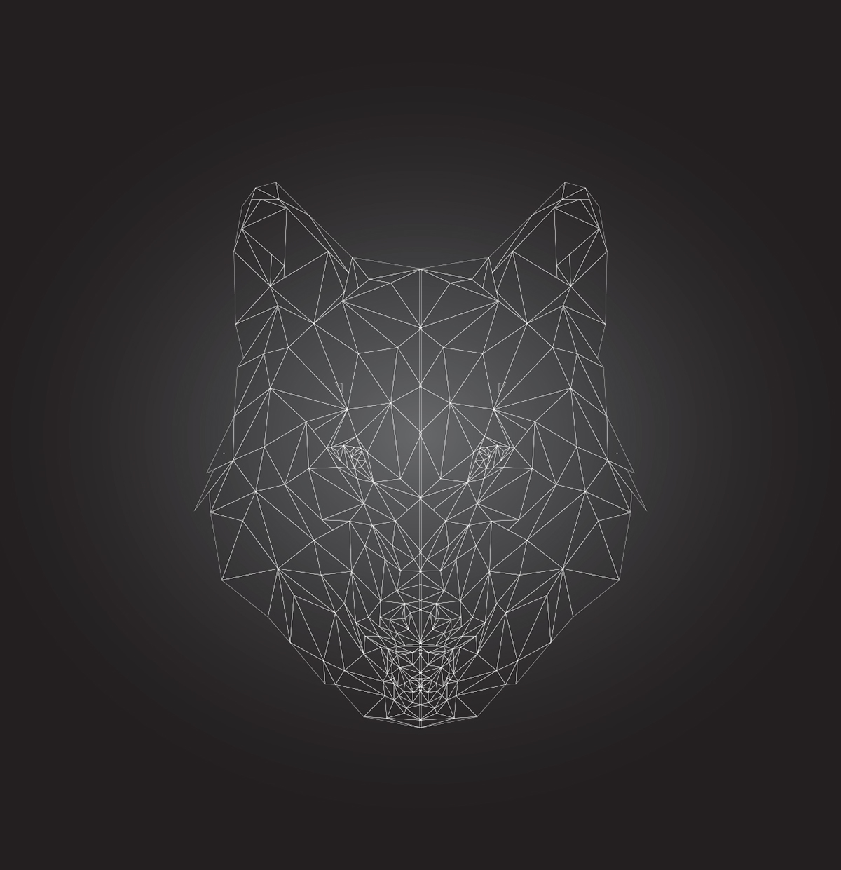 Low Poly Art Wolf The Alpha On Behance