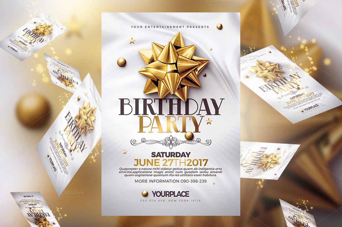 Birthday Invitation Psd Cards Templates On Behance