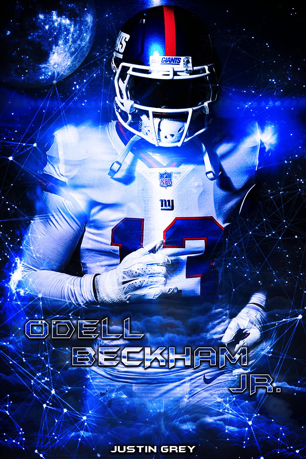 odell beckham jr poster design on behance