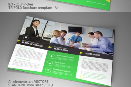 Indesign template A4 trifold brochure Corporate vol2   gs     Indesign template A4 trifold brochure Corporate vol2
