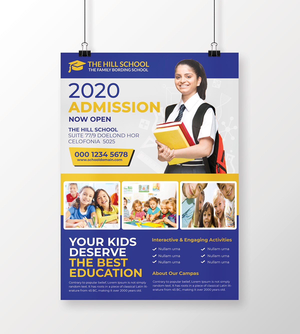 School Education Flyer Templates On Philau Portfolios