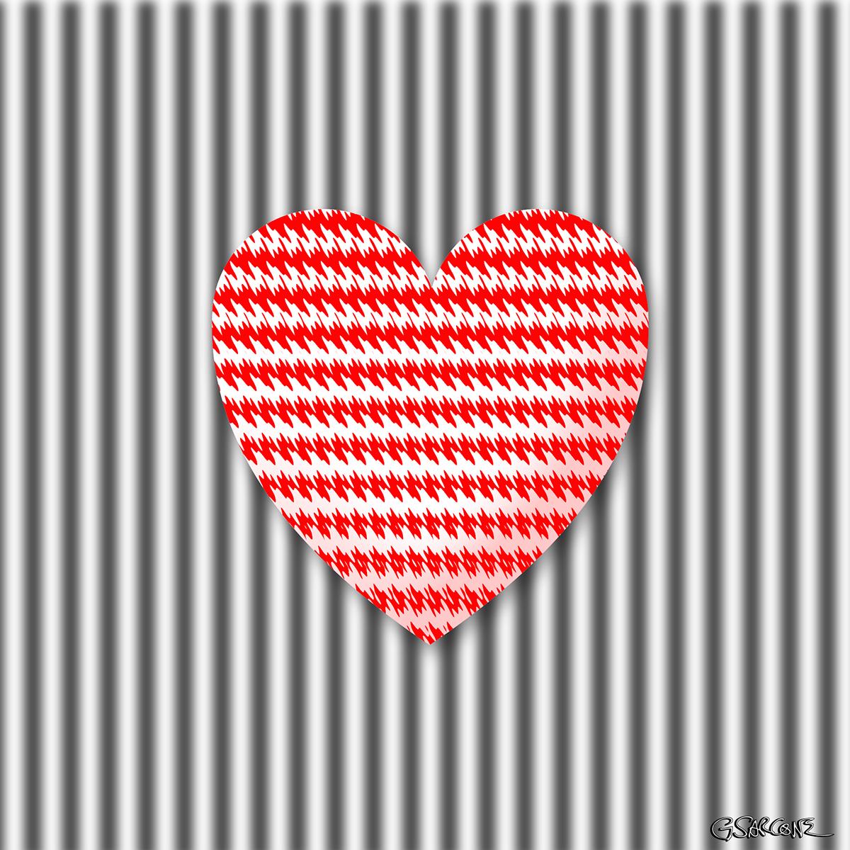Op Art Hearts On Behance