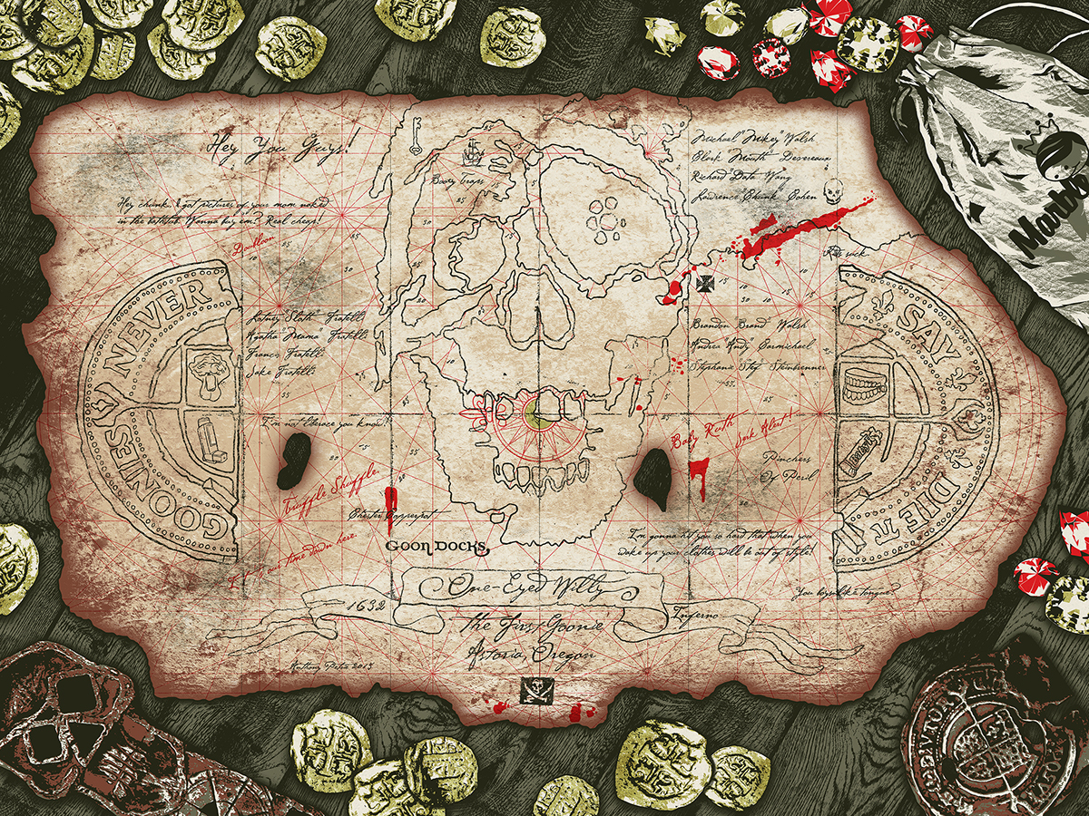 Booty Trap Treasure Map The Goonies On Behance