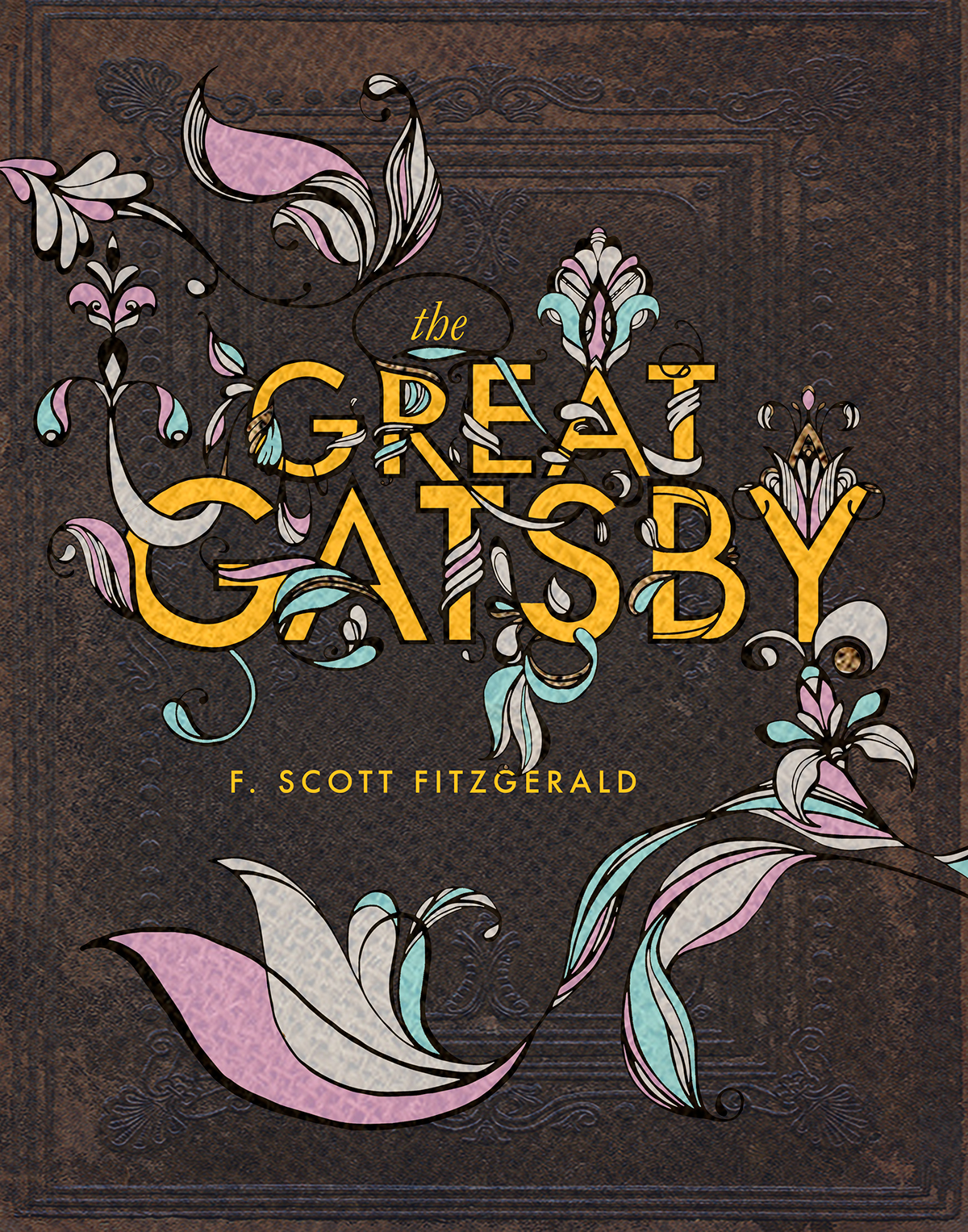 Book Cover Great Gatsby On Behance