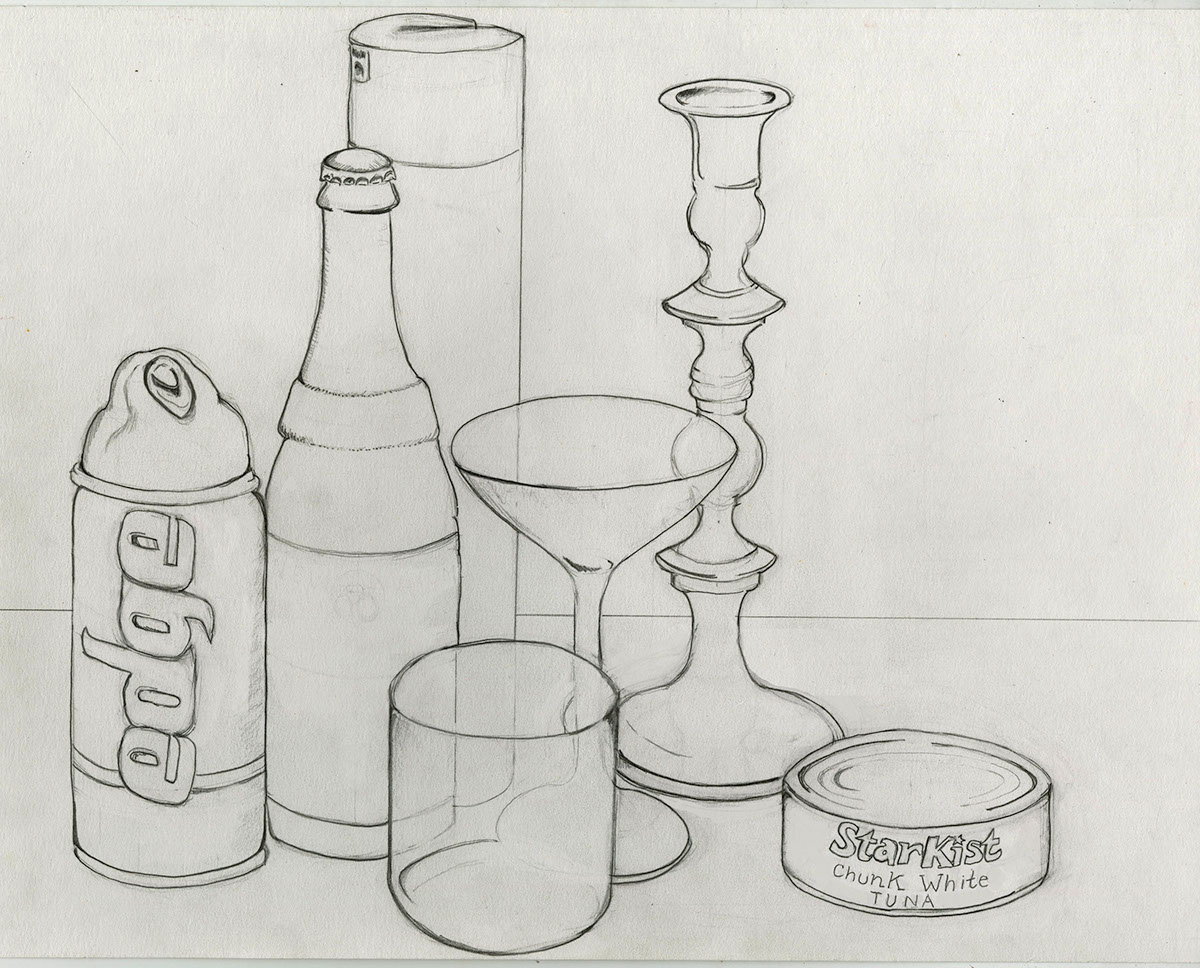 Contour Ellipse Still Life Drawing On Behance