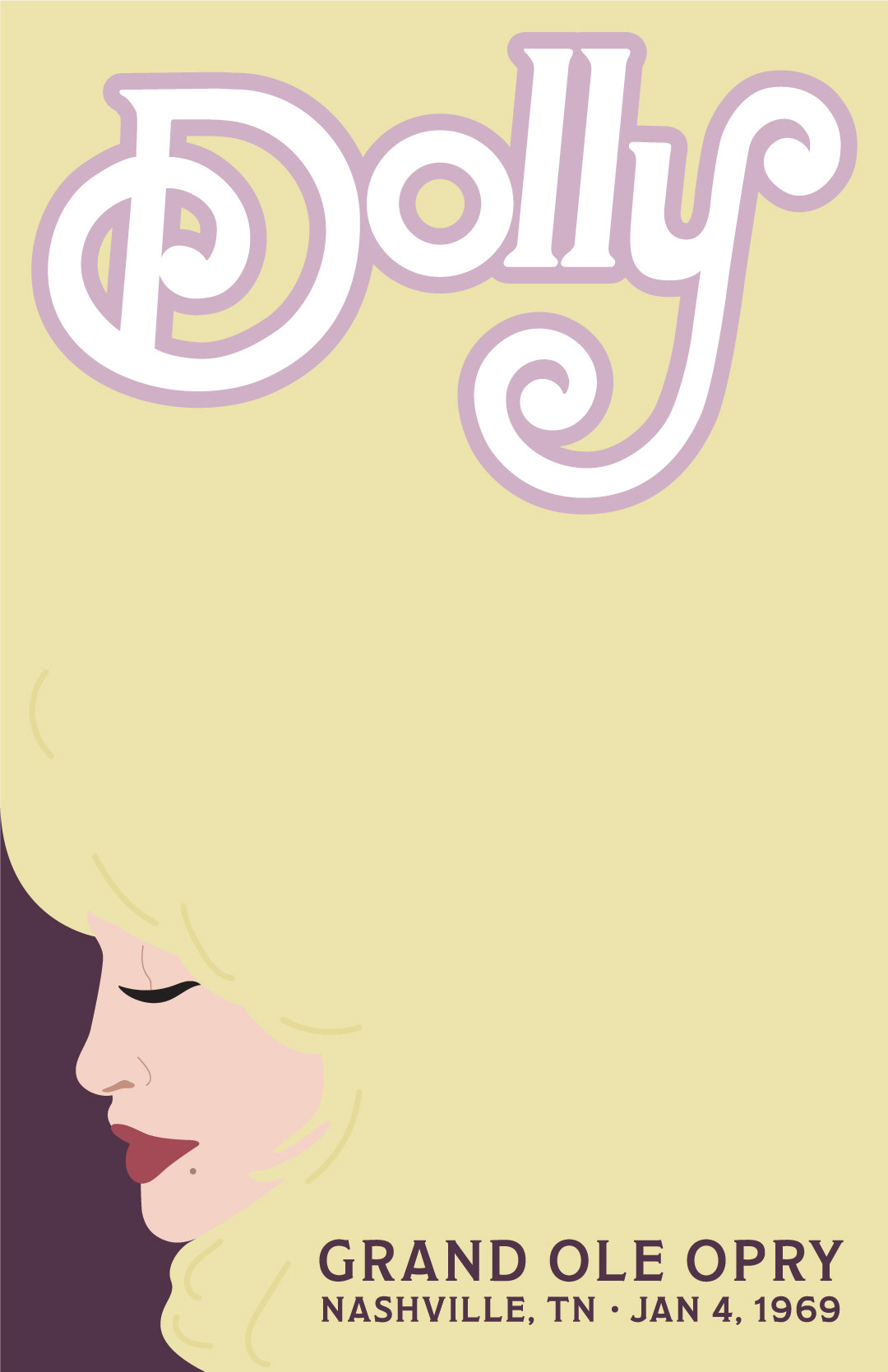 dolly parton concert poster on behance