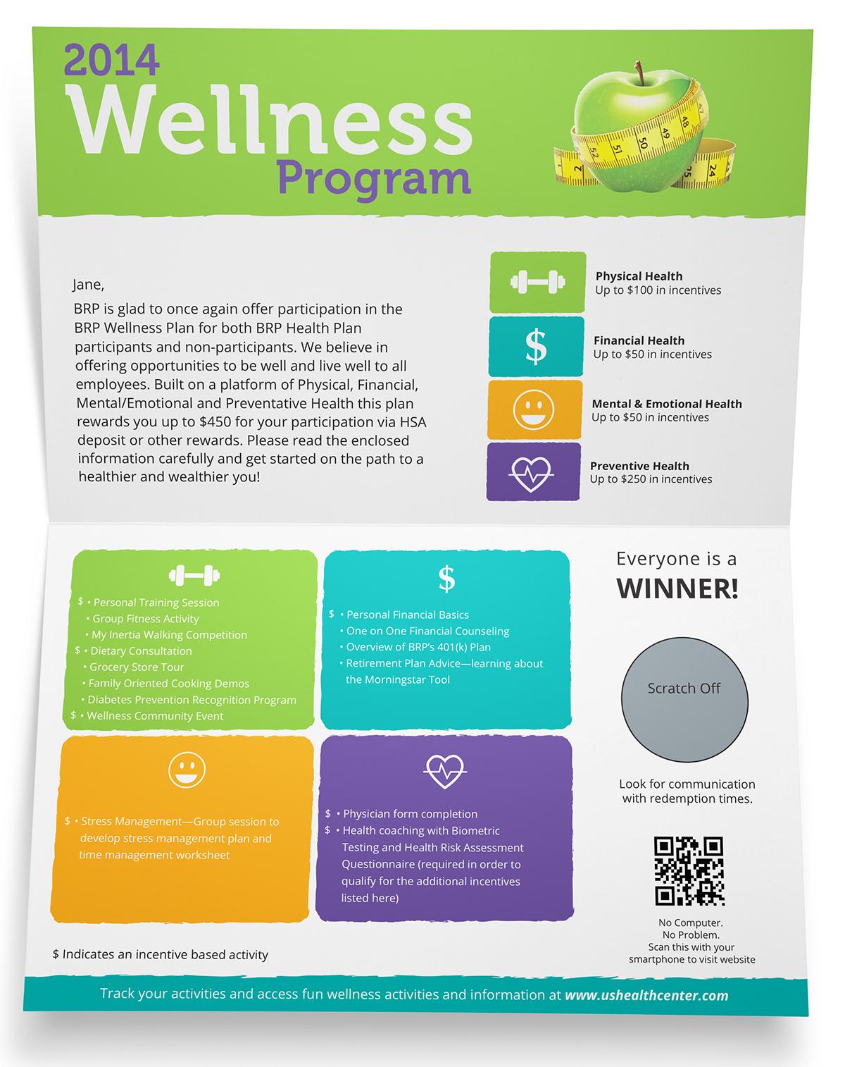 Brp Employee Wellness Program Mailer On Behance