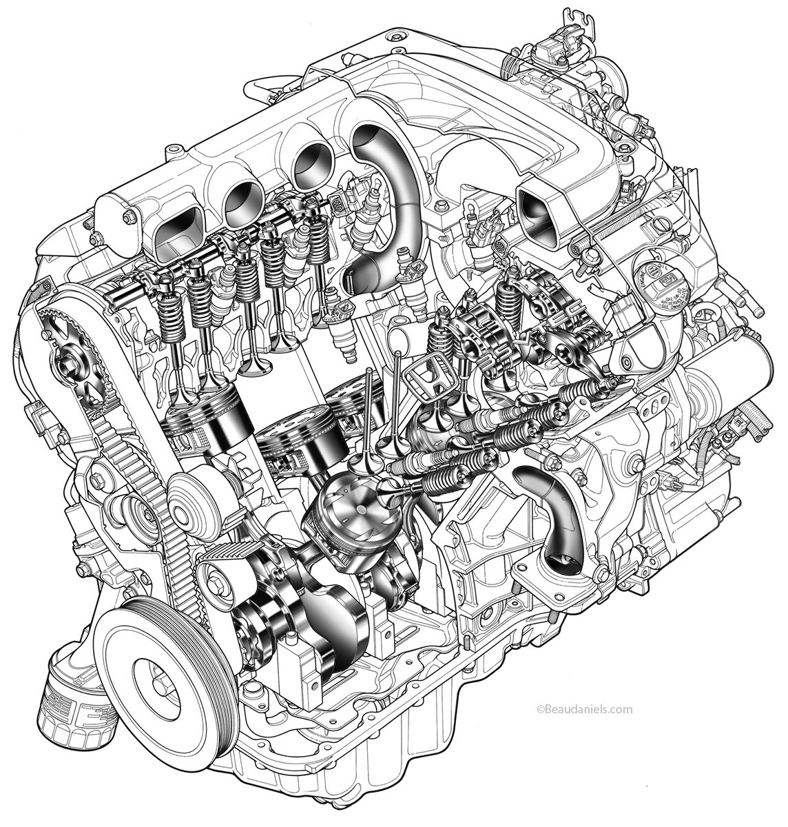 Famous car engine illustration photos electrical circuit diagram