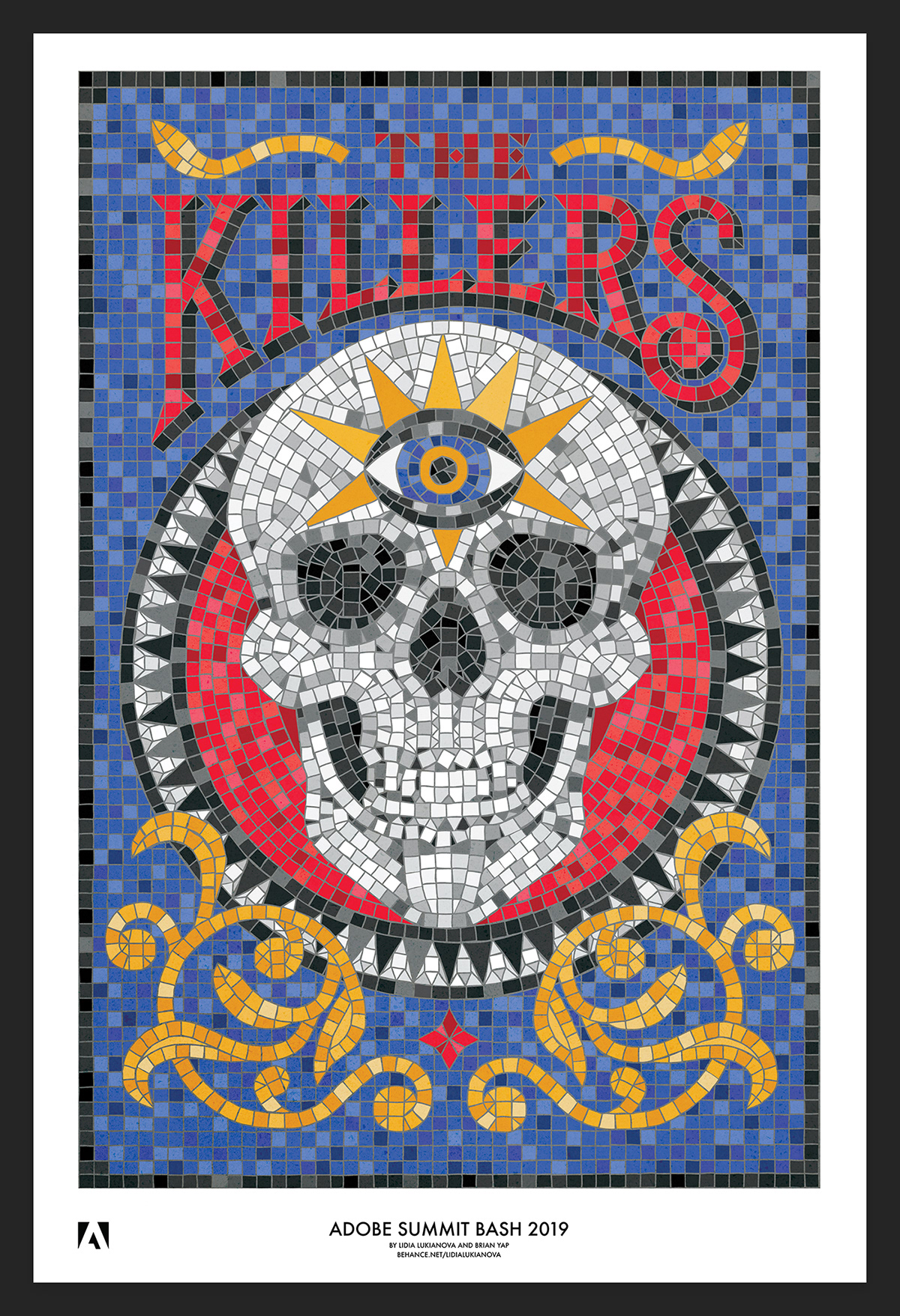 the killers band poster on behance