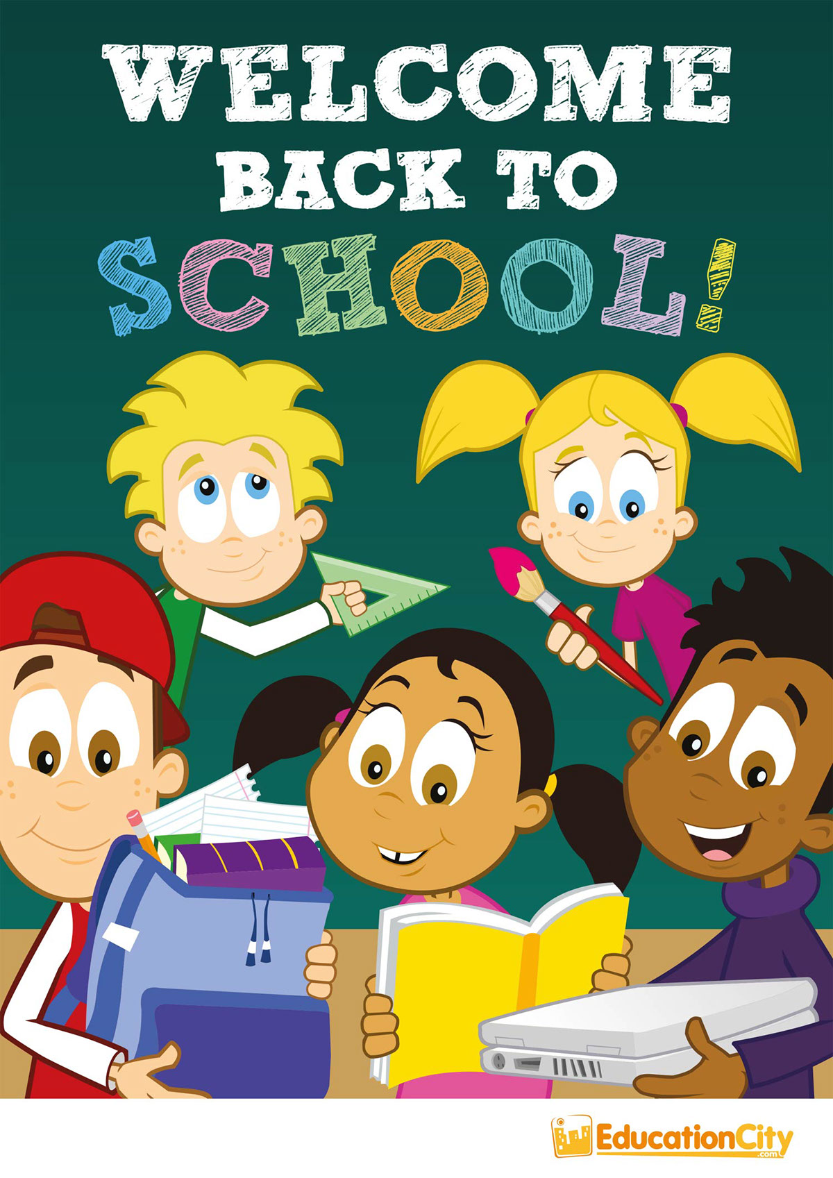 Educationcity Welcome Back To School Poster On Student Show