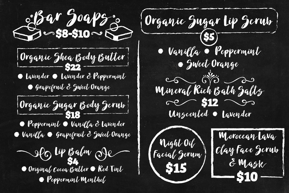Chalkboard Menu Board Design On Behance
