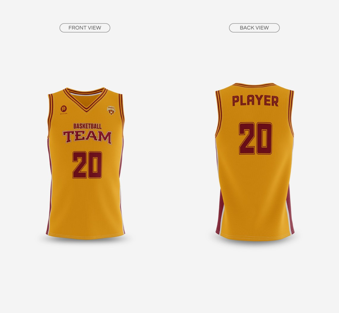 Download Basketball Jersey with V-Neck Mockup on Behance