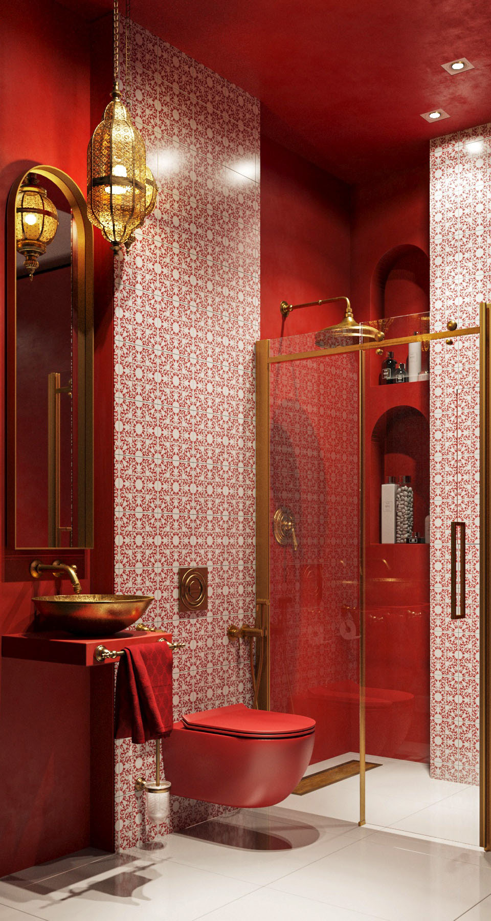 bathroom in moroccan style on behance