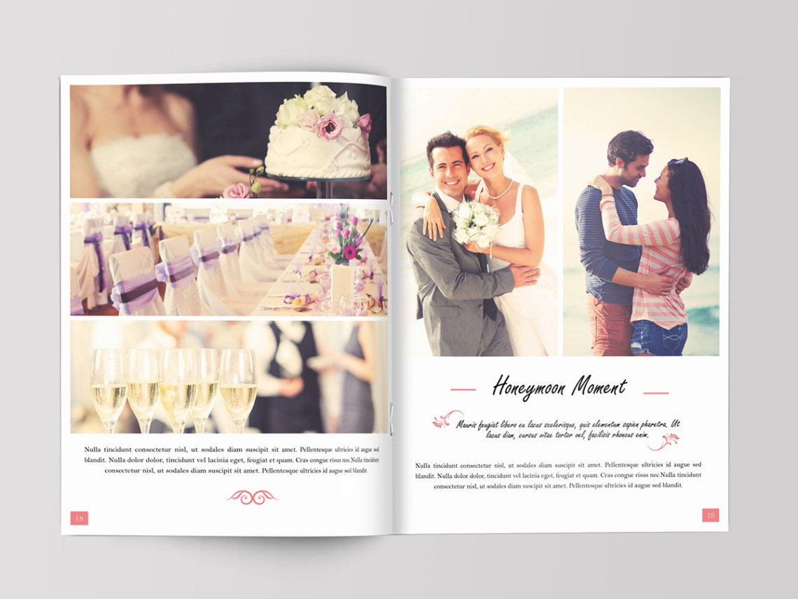 Download Wedding Magazine Template on Behance