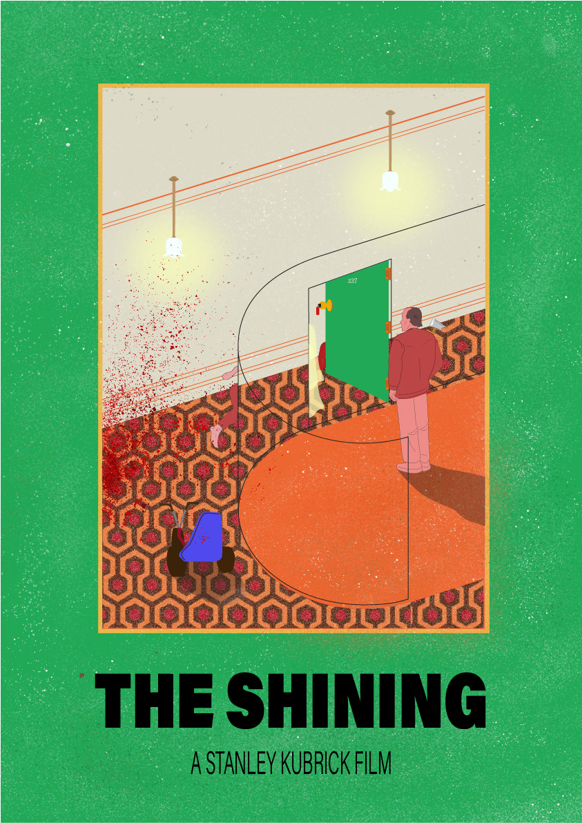 the shining movie poster on behance