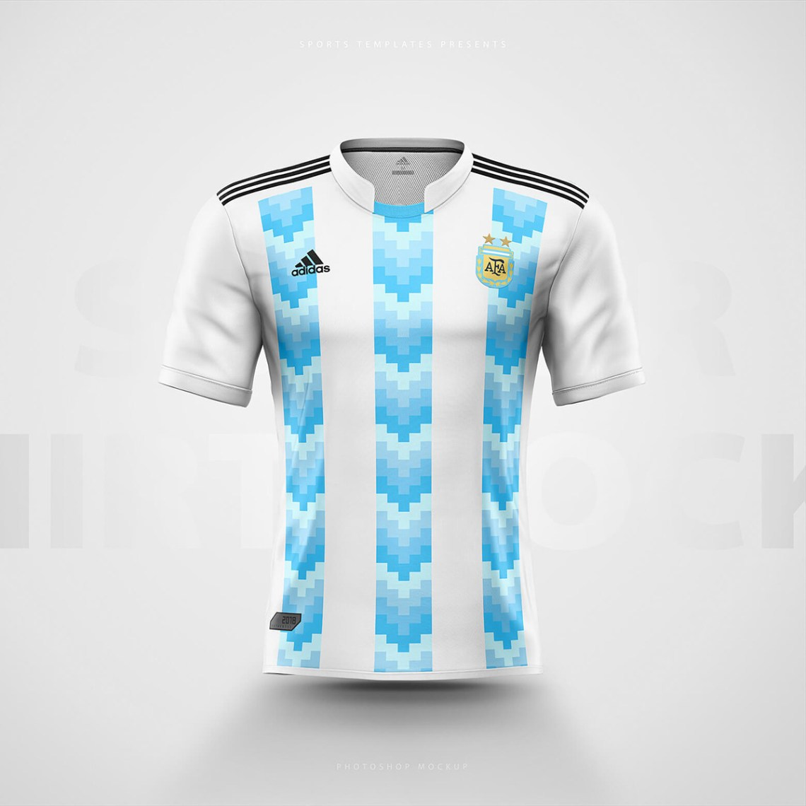 Download Adidas Football / Soccer shirt builder PSD template on ...