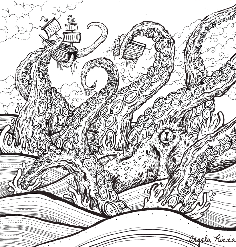 The Book Of Beasts Coloring Book On Behance