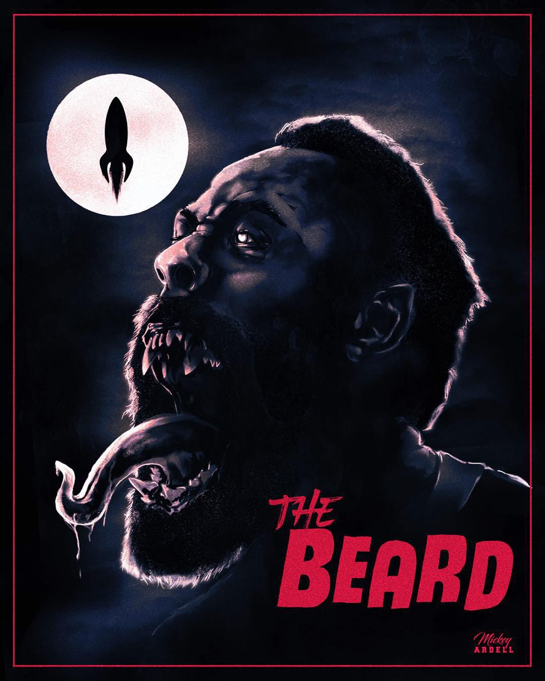 the beard mock james harden horror