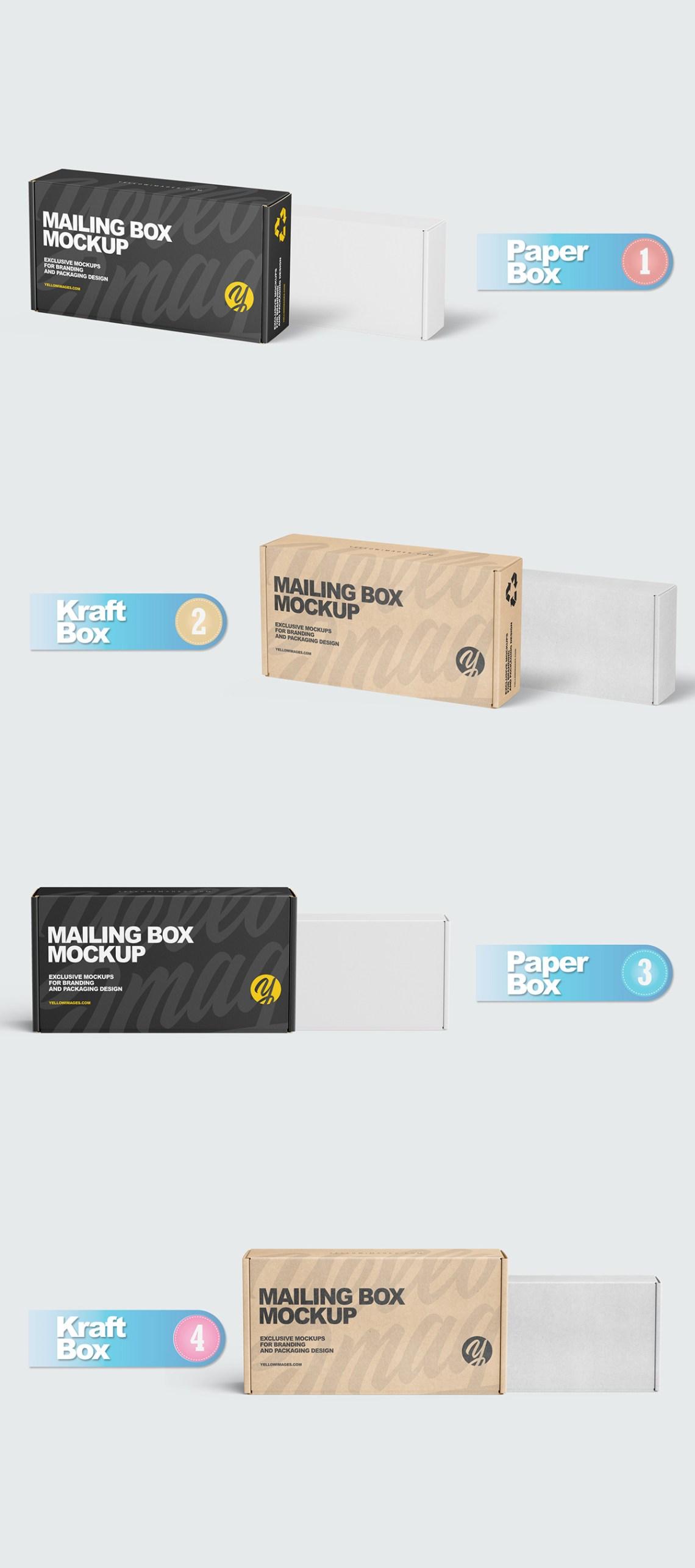 Download Box Packaging Mockup Creator Yellowimages