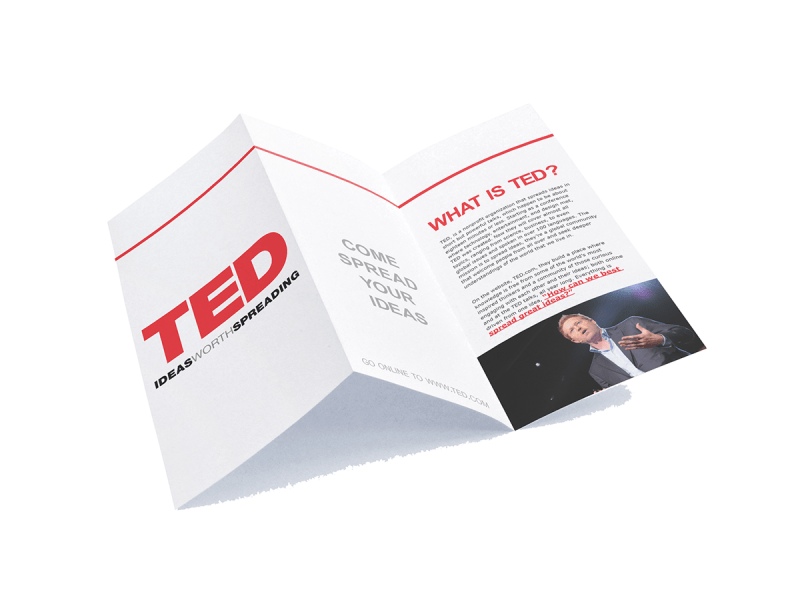 TED brochure on Behance