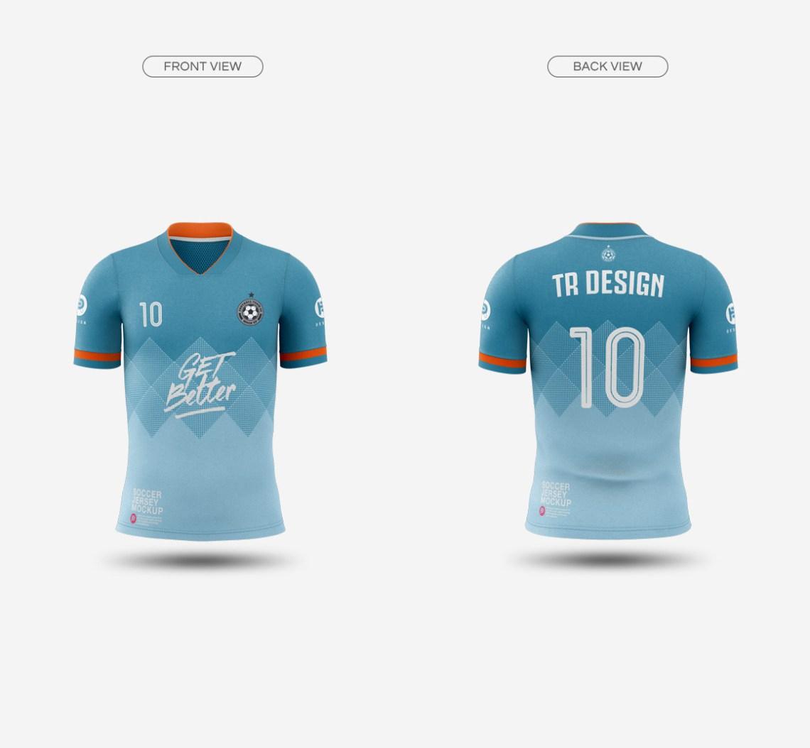Download Men's Soccer Jersey Mockup V1 on Behance