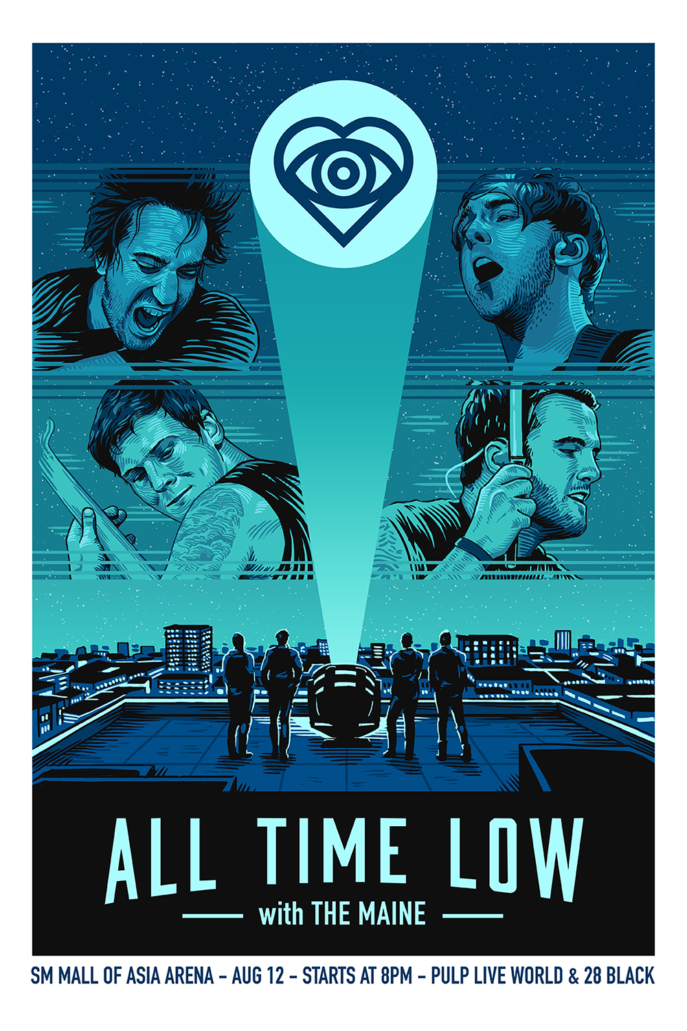 all time low live in manila 2015 on behance