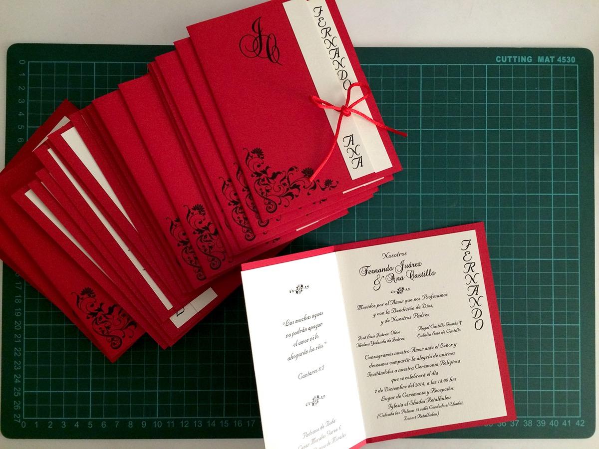 Dye Cut Wedding Invitations