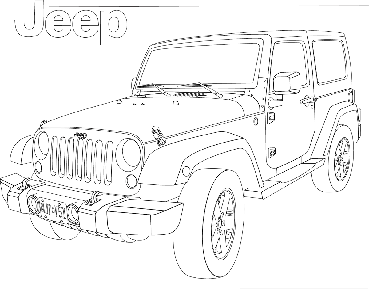 Jeep Shape Drawing On Behance
