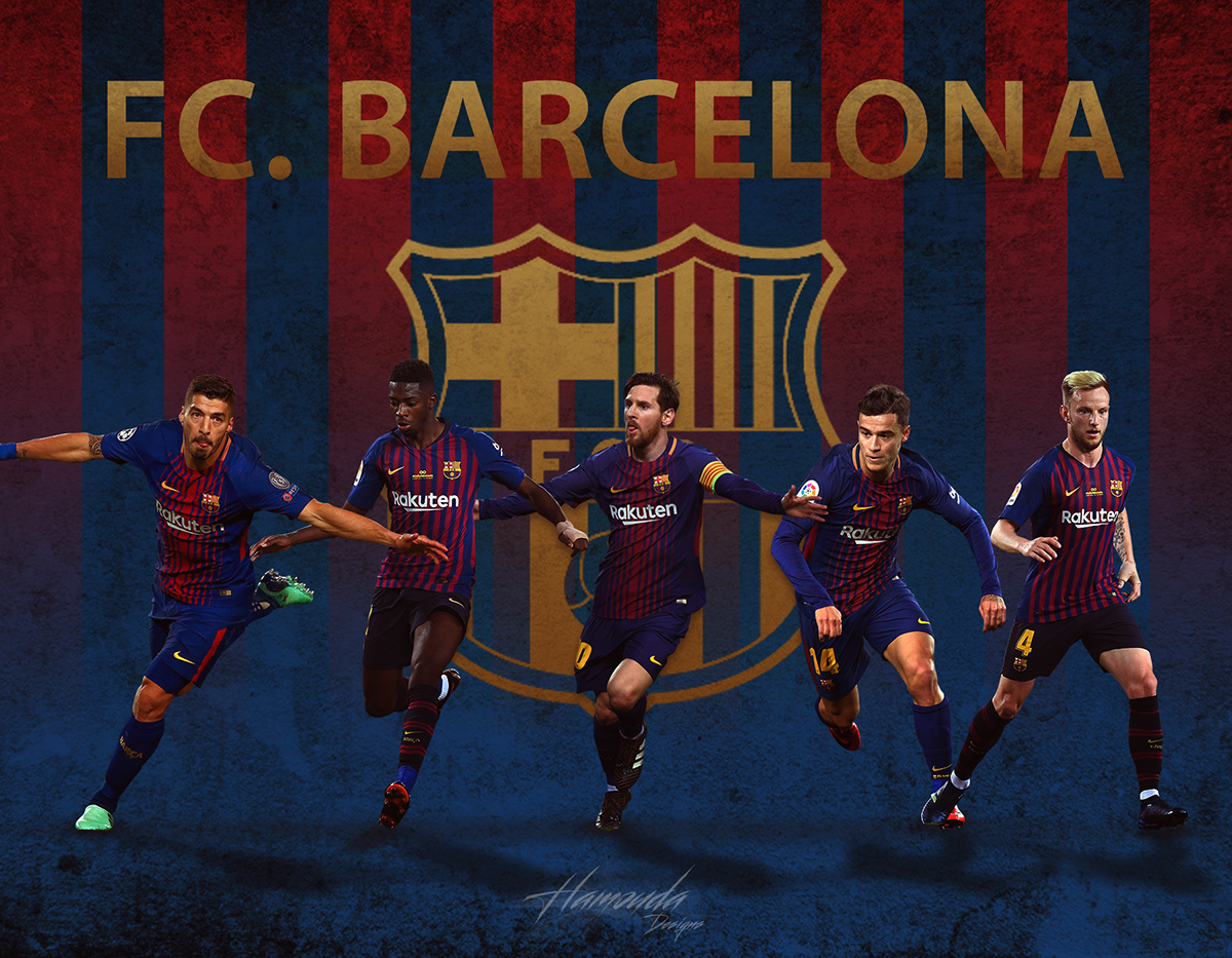 fc barcelona posters on behance